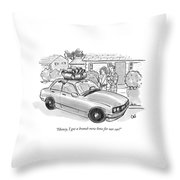 Honey, I Got A Brand-new Bow For Our Car! Throw Pillow