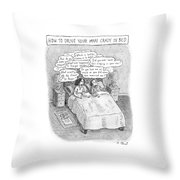 Captionless; Drive Your Man Crazy Throw Pillow