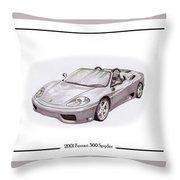 Ferrari 360 Modena Spyder Throw Pillow