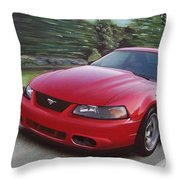 2001 Ford Mustang Cobra Throw Pillow