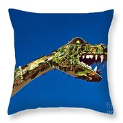 2015 Rose Parade Float Showing A Dragon 15rp040 Throw Pillow