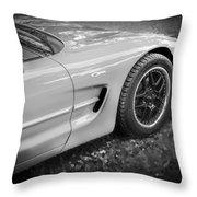 2002 Chevrolet Corvette Z06 Bw Throw Pillow