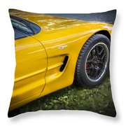 2002 Chevrolet Corvette Z06 Throw Pillow