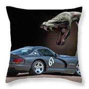 2002 Dodge Viper Throw Pillow