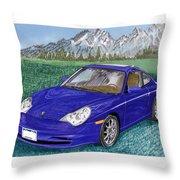 2002 Porsche 996 Throw Pillow