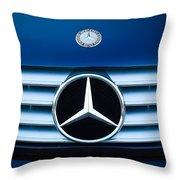 2003 Cl Mercedes Hood Ornament And Emblem Throw Pillow