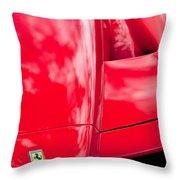 2003 Ferrari Enzo Hood Emblem Throw Pillow
