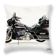 2003 Harley Davidson Throw Pillow