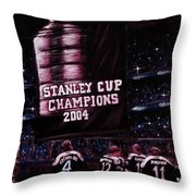 2004 Champs Throw Pillow
