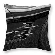2002 Corvette Ls1 5 7ltr B W Throw Pillow