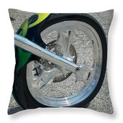 2004 Hell Bound Steel Motorcycle Throw Pillow