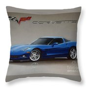 2005 Corvette Throw Pillow