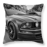 2005 Ford Mustang Convertible Bw  Throw Pillow