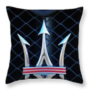 2005 Maserati Gt Coupe Corsa Emblem Throw Pillow