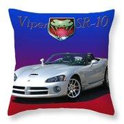 2006 Viper S R 10 Throw Pillow by Jack Pumphrey