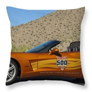 2007 Chevrolet Corvette Indy Pace Car Throw Pillow by Jill Reger