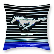 2007 Ford Mustang Grille Emblem Throw Pillow