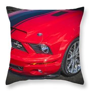 2007 Ford Mustang Shelby Gt500 427  Throw Pillow