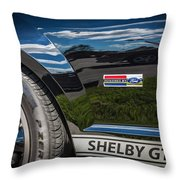 2007 Ford Mustang Shelby Gt500 Painted   Throw Pillow