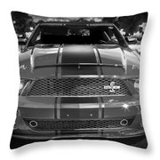 2007 Ford Mustang Shelbygt 500 427 Bw Throw Pillow