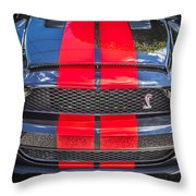 2007 Ford Shelby Gt 500 Mustang Throw Pillow
