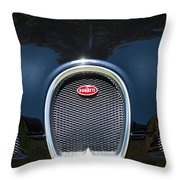 2008 Bugatti Veyron Grille Emblem -1288c Throw Pillow
