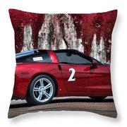 2008 Corvette Throw Pillow