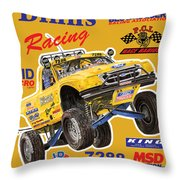 2008 Ford F-150 Racing Poster Throw Pillow