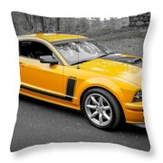 2008 Ford Mustang Rausch Supercharged Throw Pillow