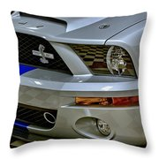 2008 Ford Mustang Shelby Grill Headlight Throw Pillow