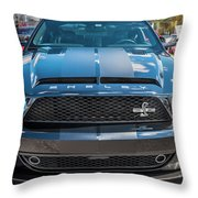 2008 Ford Shelby Mustang Gt500 Kr Painted Throw Pillow
