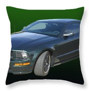 2008 Mustang Bullitt Throw Pillow