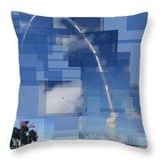 2008 Space Shuttle Launch Throw Pillow