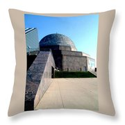 2009 Adler Planetarium With Glass Sky Pavilion II Chicago Il Usa Throw Pillow