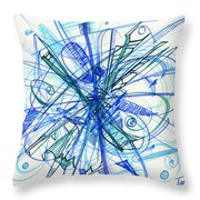 2010 Abstract Drawing 21 Throw Pillow
