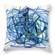 2010 Abstract Drawing 22 Throw Pillow