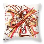 2010 Abstract Drawing 23 Throw Pillow