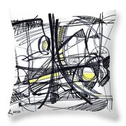 2010 Abstract Drawing 27 Throw Pillow