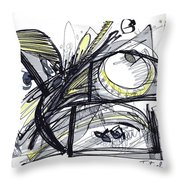 2010 Abstract Drawing 28 Throw Pillow