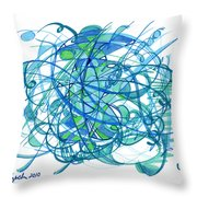 2010 Abstract Drawing 30 Throw Pillow