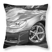 2010 Chevy Corvette Grand Sport Bw Throw Pillow