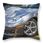 2010 Chevy Corvette Grand Sport Hdr Throw Pillow