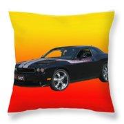 2010 Dodge Challenger Throw Pillow