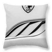 2010 Ferrari California Side Emblem Throw Pillow