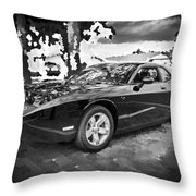 2010 Plymouth Superbird Bw Throw Pillow