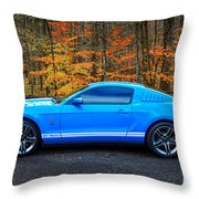 2010 Shelby Gt500 Throw Pillow