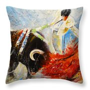 2010 Toro Acrylics 02 Throw Pillow