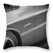 2011 Dodge Challenger Srt8 Hemi Bw  Throw Pillow