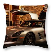2011 Mercedes-benz Sls Amg Gullwing Throw Pillow