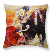 2011 Toro Acrylics 01 Throw Pillow